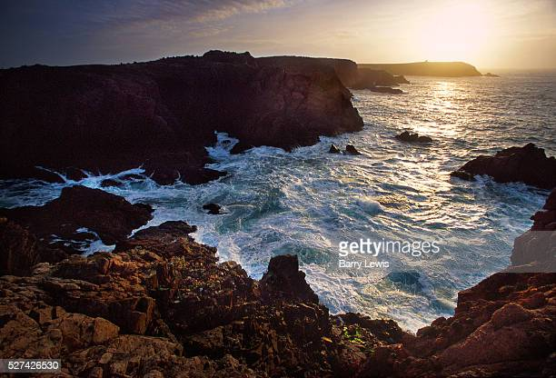 View of the Atlantic from MacGorr's Rock Tory Island Tory Island is about 15 miles from mainland Ireland The sea is treacherous and storms occur on a...