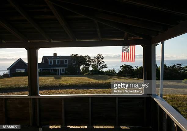 A view of the Atlantic Ocean and Cape Cod from Nauset Heights in East Orleans Massachusetts on July 11 2016