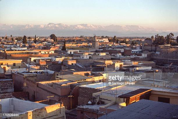 View of the Atlas Mountains from Marrakesh