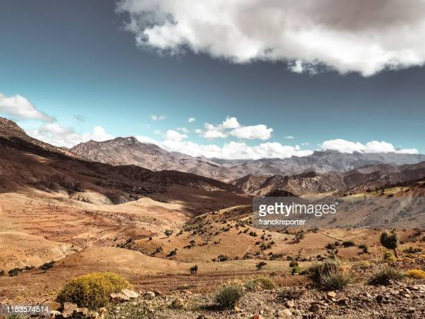 view of the atlas mountais in morocco - casablanca stock pictures, royalty-free photos & images