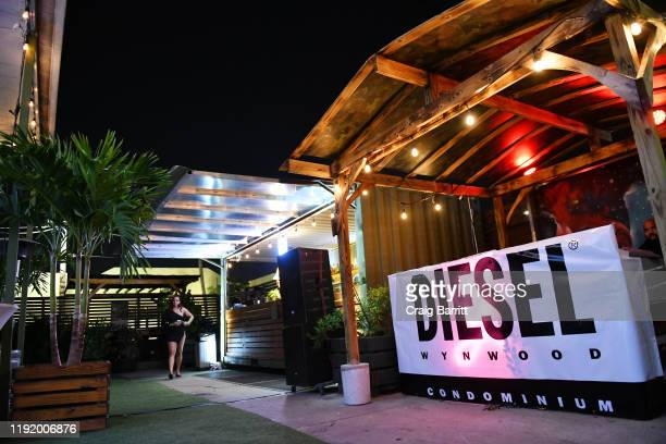 View of the atmosphere as DIESEL celebrates the exclusive launch of DIESEL Wynwood 28, their first residential building, with a DJ set by Amrit at...