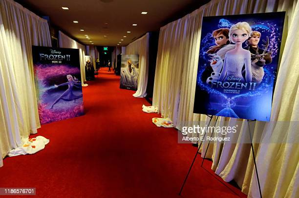 A view of the atmosphere as seen at the FROZEN 2 Global Press Conference at W Hollywood on November 09 2019 in Hollywood California