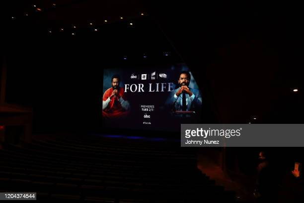 A view of the atmosphere at ABC's For Life New York Premiere at Alice Tully Hall Lincoln Center on February 05 2020 in New York City