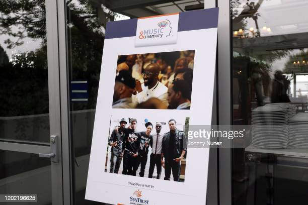 A view of the atmosphere at attend the Bryan Michael Cox 16th Annual Music And Memory PreGrammy Brunch 2020 at SLS Hotel on January 26 2020 in...