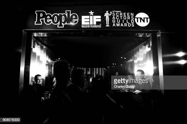 View of the atmosphere at People and EIF's Annual Screen Actors Guild Awards Gala sponsored by TNT and L'Oreal Paris at The Shrine Auditorium on...