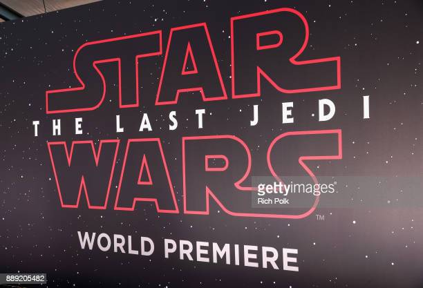 A view of the atmosphere at Star Wars The Last Jedi Premiere at The Shrine Auditorium on December 9 2017 in Los Angeles California