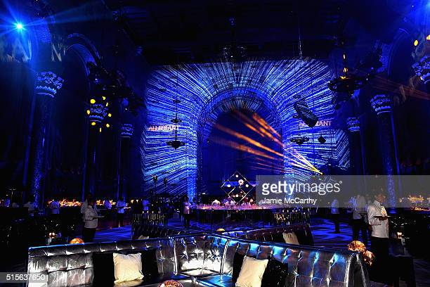 A view of the atmosphere at the Allegiant New York Premiere After Party at Cipriani 42nd Street on March 14 2016 in New York City