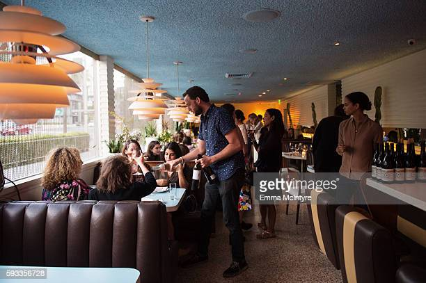 A view of the atmosphere at the Alma Restaurant at the Women of Cinefamily weekend closing party at The Standard Hollywood on August 21 2016 in West...