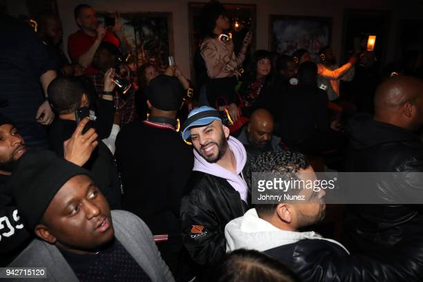 A view of the atmosphere at the Cardi B Silent Listening Party on April 5 2018 in New York City