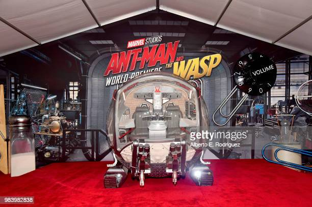 A view of the atmosphere at the Los Angeles Global Premiere for Marvel Studios' AntMan And The Wasp at the El Capitan Theatre on June 25 2018 in...