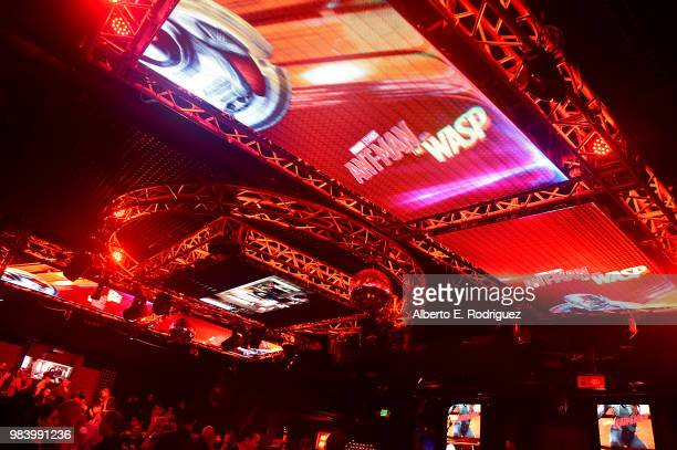 A view of the atmosphere at the Los Angeles Global Premiere for Marvel Studios' 'AntMan And The Wasp' at the El Capitan Theatre on June 25 2018 in...