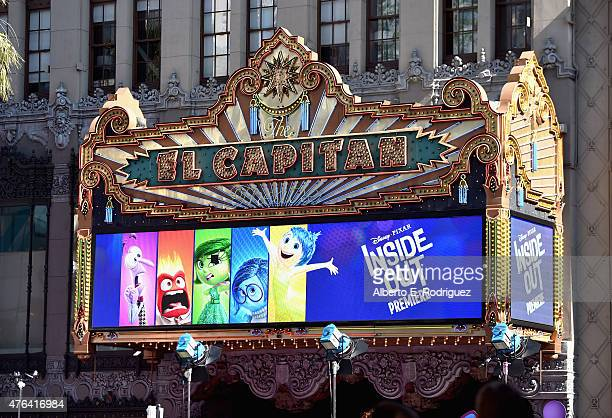 A view of the atmosphere at the Los Angeles Premiere and Party for Disney•Pixar's INSIDE OUT at El Capitan Theatre on June 8 2015 in Hollywood...