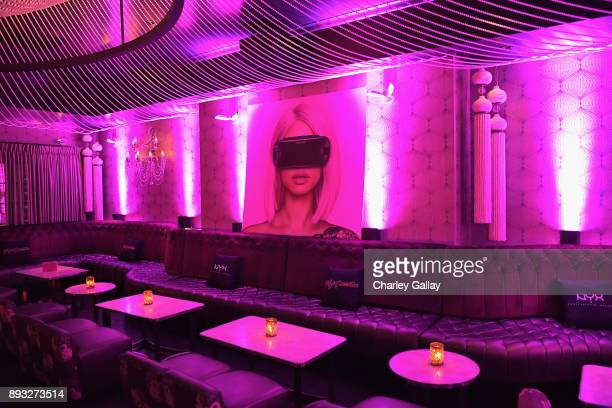 A view of the atmosphere at the NYX Professional Makeup and Samsung VR Launch Party at Beauty Essex on December 14 2017 in Los Angeles California