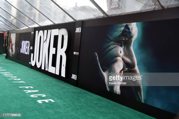 "View of the atmosphere at the premiere of Warner Bros Pictures ""Joker"" on September 28, 2019 in Hollywood, California."