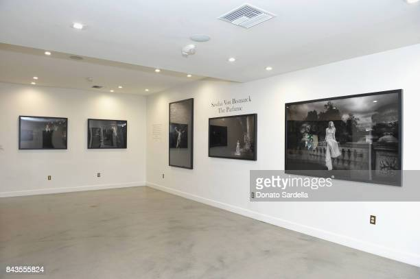 "A view of the atmosphere at the private opening of Sascha von Bismarck debut photography collection ""PERFUME"" at Eric Buterbaugh Gallery on September..."