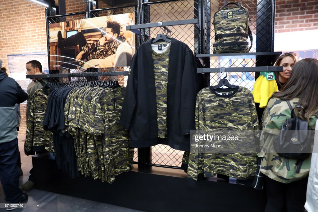 A view of the atmosphere at the Puma XO Pop-Up Shop on November 13, 2017 in New York City.