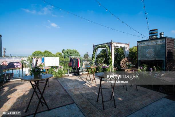 A view of the atmosphere at the Ted Baker London A/W '18 launch event at Petit Ermitage on August 15 2018 in Hollywood California
