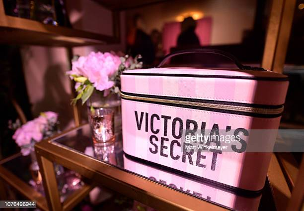 A view of the atmosphere at the Victoria's Secret Celebrates The 2018 Victoria's Secret Fashion Show With A PJ Glamp Out In LA on December 02 2018 in...