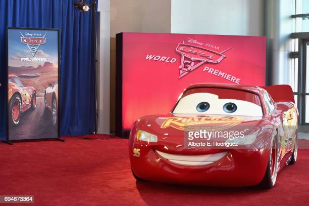 """A view of the atmosphere at the World Premiere of Disney/Pixar's """"Cars 3' at the Anaheim Convention Center on June 10 2017 in Anaheim California"""