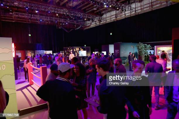 A view of the atmosphere during Strong Black Lead party during Netflix FYSEE at Raleigh Studios on June 12 2018 in Los Angeles California