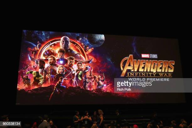 A view of the atmosphere during the Los Angeles Global Premiere for Marvel Studios' Avengers Infinity War on April 23 2018 in Hollywood California