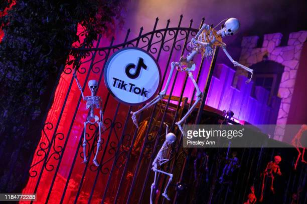 View of the atmosphere during TikTok Halloween Party on October 31 2019 in Los Angeles California