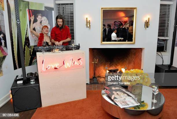 View of the atmosphere during W Magazine's Celebration of its 'Best Performances' Portfolio and the Golden Globes with Audi Dior and Dom Perignon at...