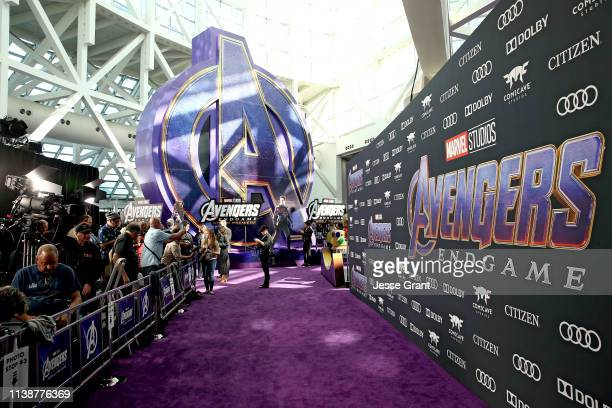 "View of the atmosphere inside the Los Angeles World Premiere of Marvel Studios' ""Avengers: Endgame"" at the Los Angeles Convention Center on April 23,..."