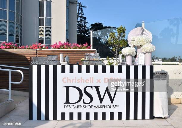View of the atmosphere is seen during the celebration of Chrishell Stause's DSW Fun, Flirty Capsule Collection at Sunset Tower Hotel on July 14, 2021...