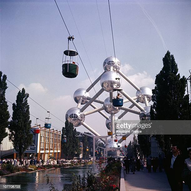 View Of The Atomium At The Exposition Universelle In Brussels On January 01St 1958