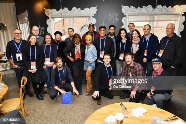 A view of the attendees at the Feature Film Jury Orientation Breakfast during the 2018 Sundance Film Festival at Cafe Terigo on January 19 2018 in...