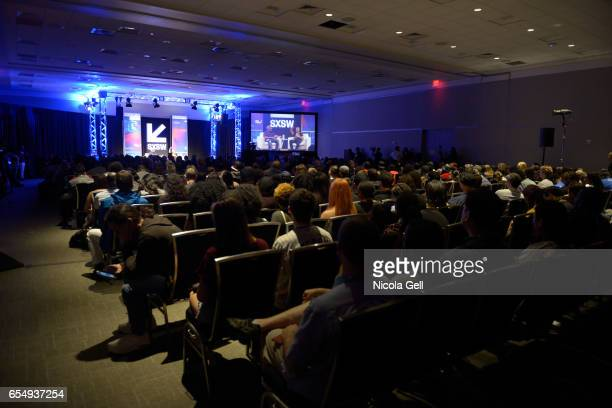 A view of the audience and stage at 'A Conversation with TI' during 2017 SXSW Conference and Festivals at Austin Convention Center on March 18 2017...