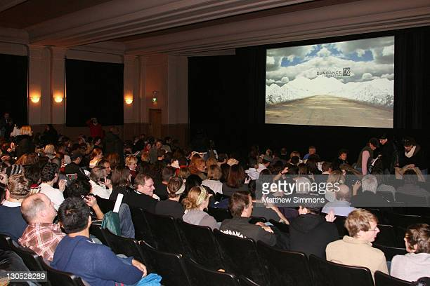 View of the audience at a screening of Quid Pro Quo at the Library Theatre during the 2008 Sundance Film Festival on January 20 2008 in Park City Utah