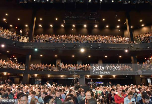A view of the audience at Elon Musk Answers Your Questions during SXSW at ACL Live on March 11 2018 in Austin Texas