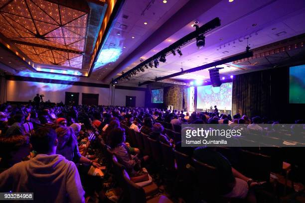 A view of the audience at SXSW Gaming Awards during SXSW at Hilton Austin Downtown on March 17 2018 in Austin Texas