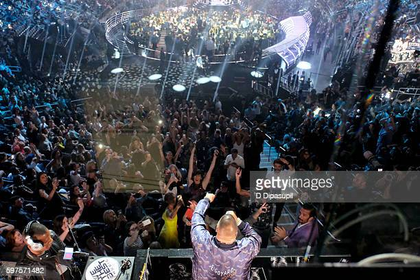 A view of the audience at the 2016 MTV Music Video Awards at Madison Square Garden on August 28 2016 in New York City