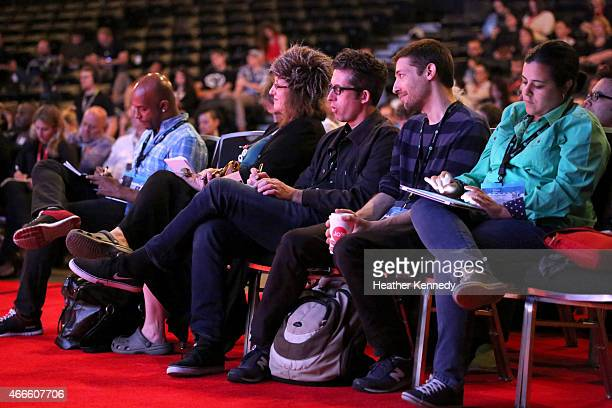 A view of the audience at the 'Christine Vachon Keynote' during the 2015 SXSW Music Film Interactive Festival at Austin Convention Center on March 17...
