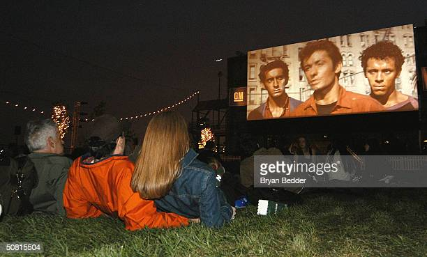 A view of the audience at the Drive In Movie screening of the West Side Story during the 2004 Tribeca Film Festival May 8 2004 in New York City