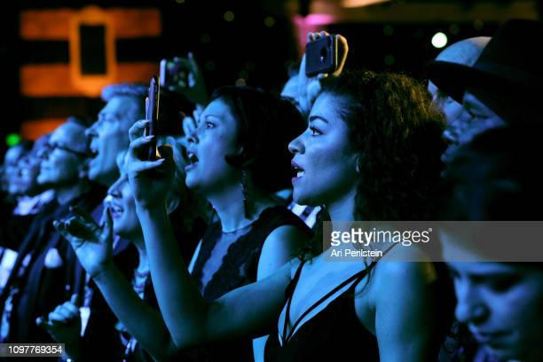 A view of the audience at the GRAMMY Celebration during the 61st Annual GRAMMY Award at Staples Center on February 10 2019 in Los Angeles California