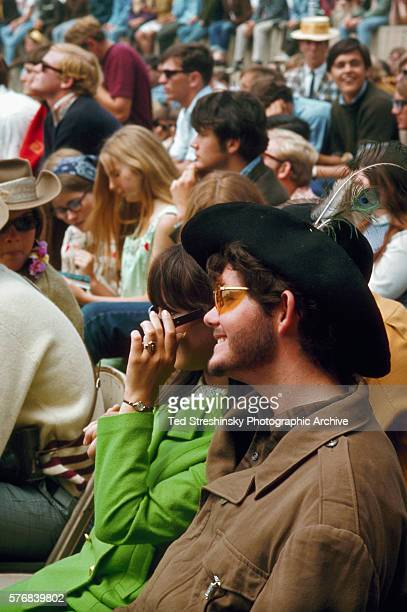 A view of the audience at the Monterey International Pop Festival in Monterey California in 1967
