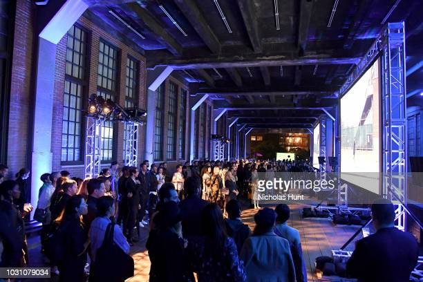 A view of the audience at the screening of the rag bone film Time Of Day at The High Line on September 10 2018 in New York City