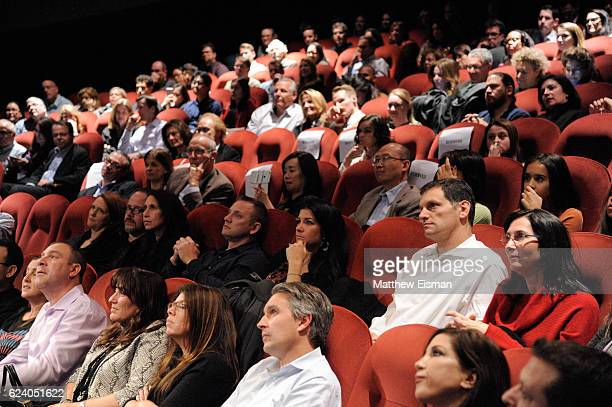 """View of the audience during a Q&A following the New York premiere of """"Swim Team"""" at DOC NYC on November 17, 2016 in New York City."""