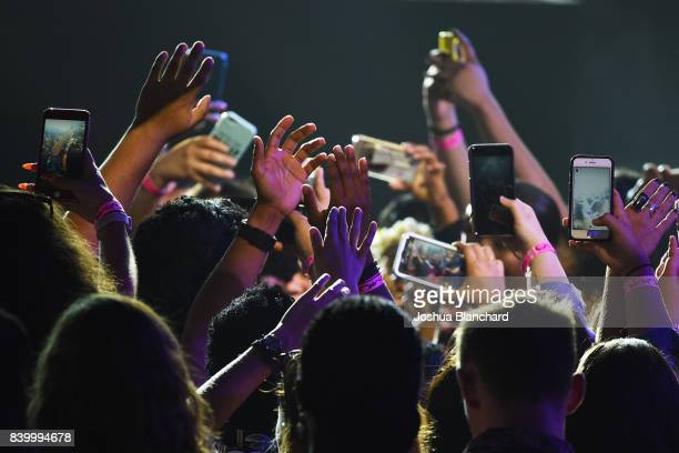 View of the audience during the 2017 MTV Video Music Awards preshow at The Forum on August 27 2017 in Inglewood California