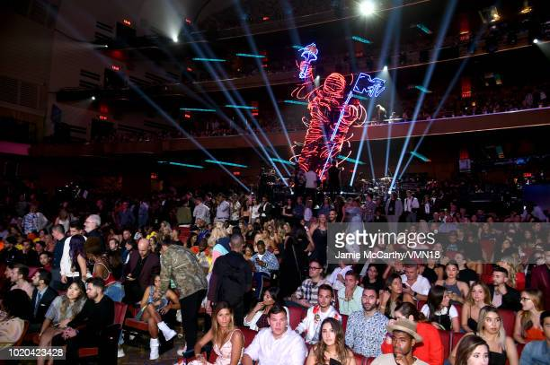 View of the audience during the 2018 MTV Video Music Awards at Radio City Music Hall on August 20, 2018 in New York City.