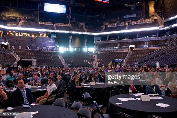 A view of the audience during the Beyond Sport United 2016 at Barclays Center on August 9 2016 in Brooklyn New York