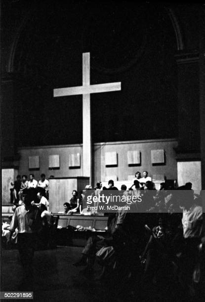 View of the audience during the 'Concert Of Dance' production at Judson Church New York New York July 6 1962