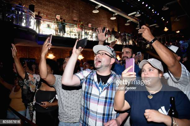 A view of the audience during the Crystal Pepsi Throwback Tour with Busta Rhymes to bring music baseball and iconic Clear Cola to fans at Billy's...