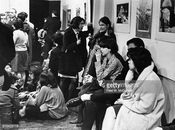 View of the audience in the Bridge Theatre in the HamiltonHolly House New York New York November 2 1965 Rock band the Fugs were performing
