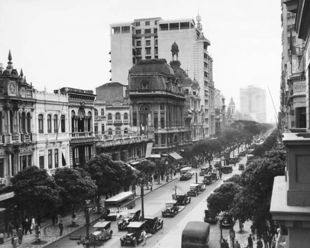 A view of the Avenida Rio Branco, Rio de Janeiro, Brazil,...