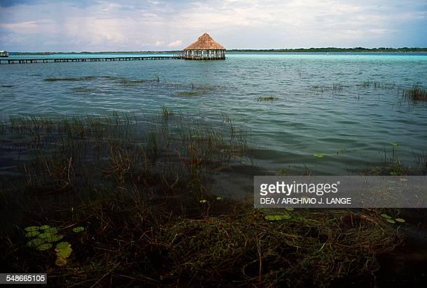 View of the Bacalar lagoon Quintana Roo Mexico